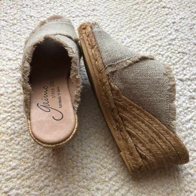 gaimo(ガイモ)のgaimo フリンジクロスエスパドリーユミュール レディースの靴/シューズ(サンダル)の商品写真