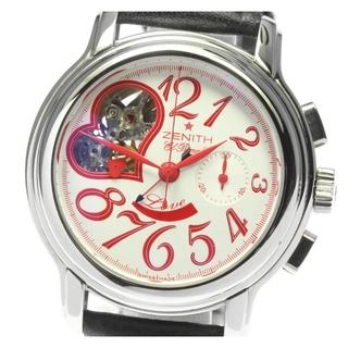 ゼニス(ZENITH)の☆良品 ゼニス エルプリメロ オープンハート ボーイズ 【中古】(腕時計(アナログ))