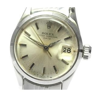 ロレックス(ROLEX)のロレックス オイスター パーペチュアルデイト 6519 レディース 【中古】(腕時計)
