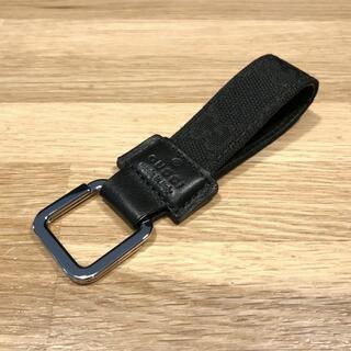Gucci - 新品同様 グッチ GG キーリング キーホルダー 黒 ブラック 199919