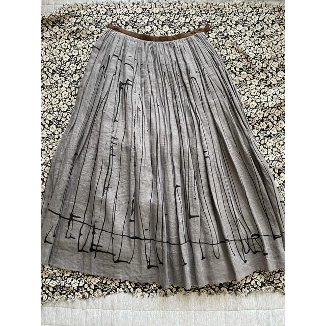 mina perhonen(ミナペルホネン)のmina perhonen  rain trackスカート レディースのスカート(ロングスカート)の商品写真