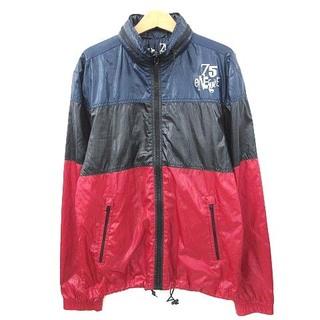 エナジー(ENERGIE)のエナジー ENERGIE ブルゾン ジャケット リコロール ロゴ S 紺 黒 赤(ブルゾン)