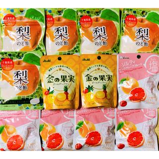 のど飴 & 飴 3種  (パイン/グレープフルーツ/梨のど飴)  計12袋(菓子/デザート)