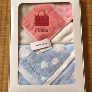 Furla - FURLAとGIVENCHYの新品未使用品 タオルハンカチ2枚セット