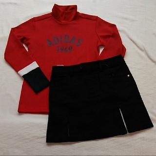adidas - 新品 adidas ゴルフ モックシャツ インナーパンツ付きスカートMセット