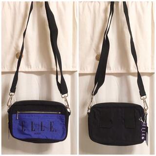 エル(ELLE)のELLE エル バイカラーショルダーバッグ タグ付き新品 未使用(ショルダーバッグ)