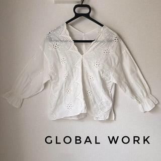 GLOBAL WORK - GLOBALWORK ブラウス トップス Mサイズ