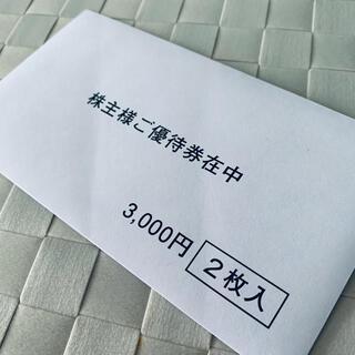 未開封【ビジョン株主優待券】3,000円分2枚 グローバルWi-Fi(その他)