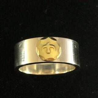 ゴローズ(goro's)の送料無料 大特価 ゴローズ 金メタル付き 平打ちリング 16号(リング(指輪))