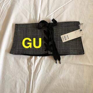 ジーユー(GU)の新品 GU コルセット ベルト グレーチェック(ベルト)