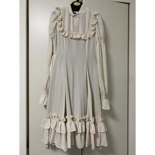 ヴィクトリアンメイデン(Victorian maiden)のヴィクトリアンメイデン  フリルドレス オフホワイト(ひざ丈ワンピース)