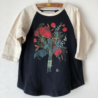 ゴートゥーハリウッド(GO TO HOLLYWOOD)のゴートゥーハリウッド7分丈フラワーTシャツ110(Tシャツ/カットソー)