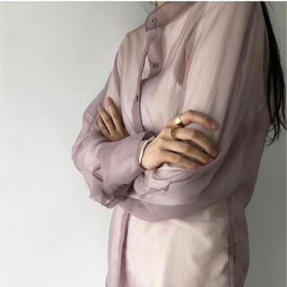 TODAYFUL - TODAYFUL / Organdy Sheer Shirts 完売品
