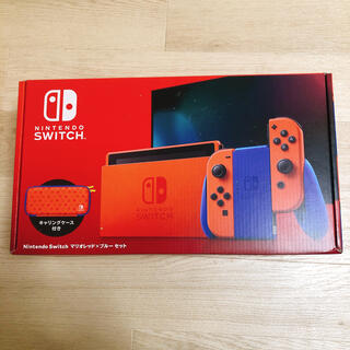 ニンテンドースイッチ(Nintendo Switch)のNintendo Switch 任天堂 スイッチ 本体 マリオレッド×ブルー(家庭用ゲーム機本体)