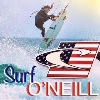 オニール(O'NEILL)のO'NEILLオニール US限定 型抜き アメリカンフラッグデザイン ステッカー(サーフィン)