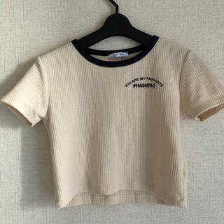 ザラ(ZARA)のショート丈半袖(Tシャツ(半袖/袖なし))