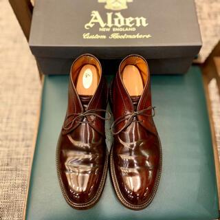Alden - 名作❗️アメトラ王道《ALDEN》1339コードバン7D 箱有り バーガンディ