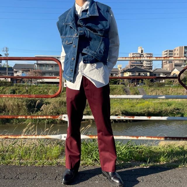 JOHN LAWRENCE SULLIVAN(ジョンローレンスサリバン)のy project デニムベスト メンズのジャケット/アウター(Gジャン/デニムジャケット)の商品写真