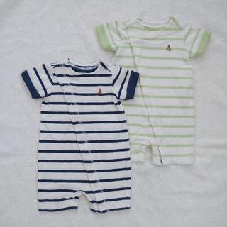 babyGAP - 【GAP】ボーダーロンパース 2枚セット 60 新生児