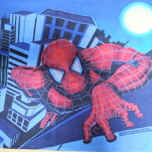 MARVEL(マーベル)のビンテージピローケース スパイダーマン ハンドメイドの素材/材料(生地/糸)の商品写真