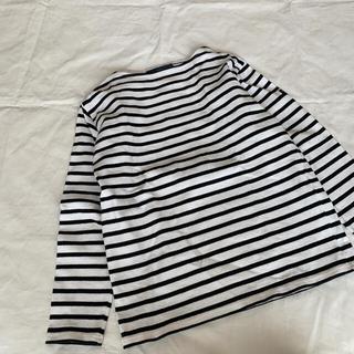 セントジェームス(SAINT JAMES)のSAINT JAMES セントジェームス ボーダー バスクシャツ 白黒(Tシャツ(長袖/七分))