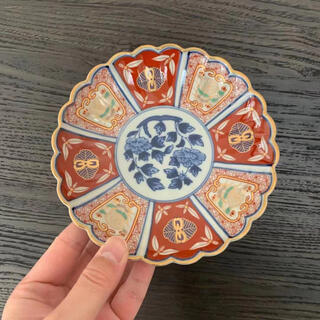 ハサミ(HASAMI)の新品 林九郎 窯 波佐見焼 有田焼 古伊万里様式 手作り お皿 小皿 陶芸(食器)