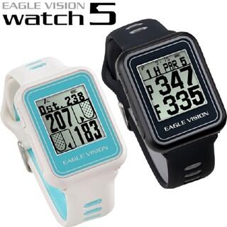 アサヒゴルフ(朝日ゴルフ)のイーグルビジョン ウォッチ5 ブラックのみ 腕時計型 GPSナビ EV-019(その他)