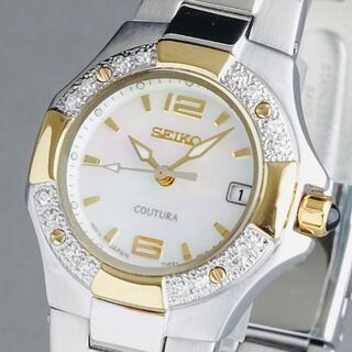 SEIKO - 定価5万円【新品即納】セイコー 高級 レディース腕時計 16粒ダイヤモンド 防水