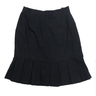 シャネル(CHANEL)のシャネル ボックスブリーツ スカート 黒 サイズ36(ミニスカート)