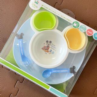 ディズニー(Disney)の食べこぼしキャッチプレート ミッキー (離乳食器セット)