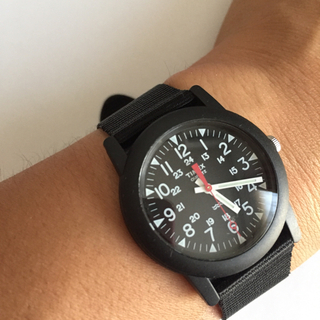 タイメックス(TIMEX)の[タイメックス]TIMEX 腕時計 キャンパー ブラック文字盤 T18581(腕時計)