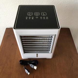 USB冷風扇 タッチパネル式ミニクーラー 美品 送料込み(扇風機)