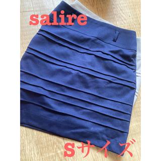 サリア(salire)のsalire タイトスカート ネイビー Sサイズ(ミニスカート)