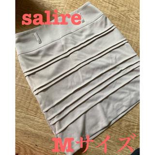 サリア(salire)のsalire タイトスカート ページュ Mサイズ(ミニスカート)