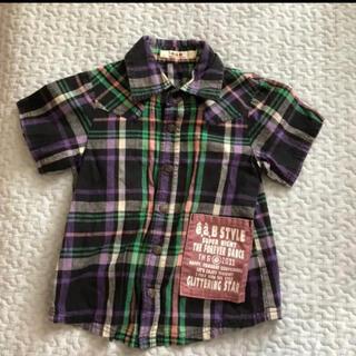 エーアーベー(eaB)のeab 半袖シャツ チェックシャツ 100(Tシャツ/カットソー)