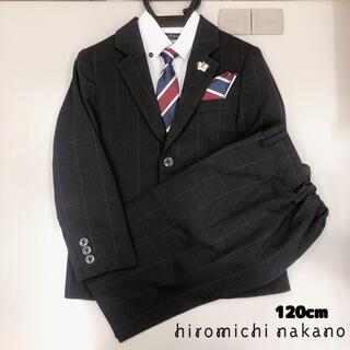 ヒロミチナカノ(HIROMICHI NAKANO)の1回着用 ヒロミチナカノ セットアップ フォーマルスーツ 120 6点セット(ドレス/フォーマル)