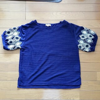 サンカンシオン(3can4on)の刺繍入りブラウス(シャツ/ブラウス(半袖/袖なし))