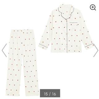 GU - gu サテンパジャマ 長袖 ハート