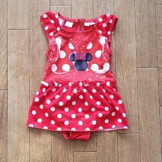 ディズニー(Disney)の《値下げ》ミニーちゃん水着 女の子 80サイズ(水着)
