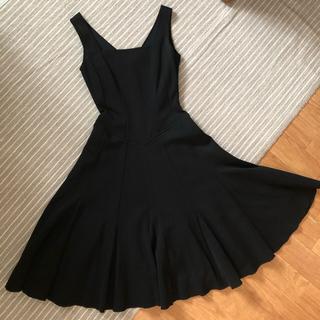 FOXEY - フォクシー 日本製 黒 ノースリーブ ワンピース ドレス 40 L