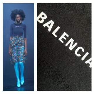 バレンシアガ(Balenciaga)のbalenciaga  コレクション品 ロゴプリント ストレッチ トップス(カットソー(半袖/袖なし))