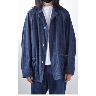 COMOLI - COMOLI コモリ 21SS デニムワークジャケット サイズ1 ネイビー