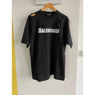 Balenciaga - BALENCIAGA CAPS DESTROYED FLATGROUND Tシャ