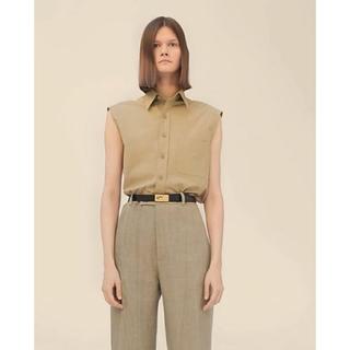 セリーヌ(celine)のCELINE Sleeveless Cotton Shirt sz.38(シャツ/ブラウス(半袖/袖なし))