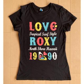 Roxy - ROXY カラフルロゴTシャツ ダンスウェア スポーツウェア ブラック ロキシー