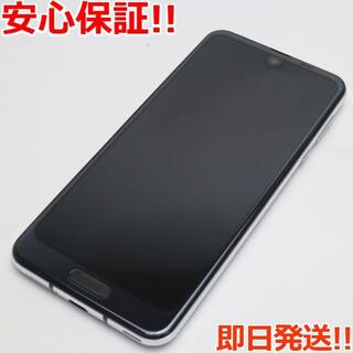 アクオス(AQUOS)の超美品 706SH ブラック 本体 白ロム (スマートフォン本体)