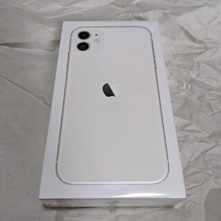 アイフォーン(iPhone)のdocomo iPhone11 64GB ホワイト SIMフリー 新品未開封品(スマートフォン本体)