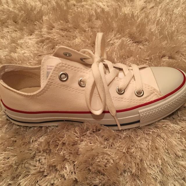 CONVERSE(コンバース)のお値下げしました☆コンバース  白 23.0㌢  レディースの靴/シューズ(スニーカー)の商品写真