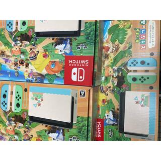 ニンテンドースイッチ(Nintendo Switch)の任天堂switch 本体 どうぶつの森セット10台@50000(家庭用ゲーム機本体)