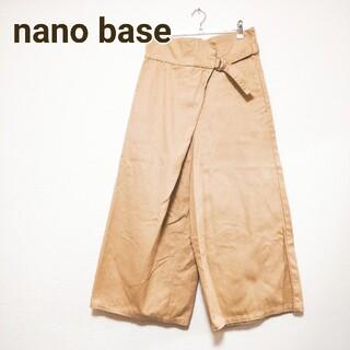 ナノユニバース(nano・universe)のナノユニバース ワイドパンツ ベージュ S(カジュアルパンツ)